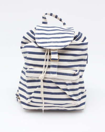 Backpack In Navy Stripe