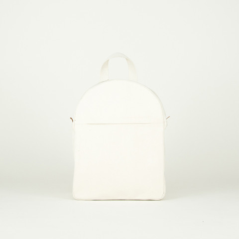 Boxy Backpack Off White