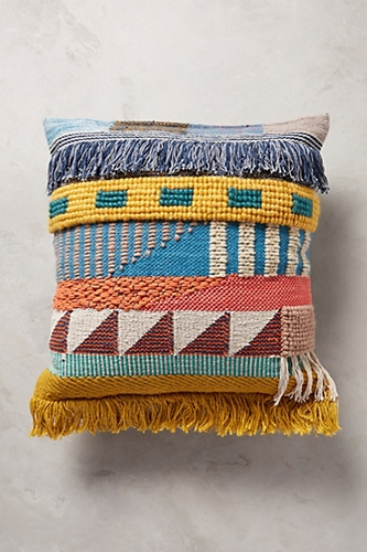 Hand Embroidered Kala Pillow Anthropologie.Com