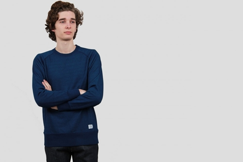 Norse Projects Vorm Indigo Sweat Indigo Nouveautes