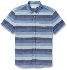 Rag Bone Striped Cotton And Linen Blend Shirt