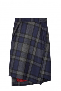 Vivienne Westwood Red Label Red Label Navy Tartan Skirt By Red Label Vivienne Westwood