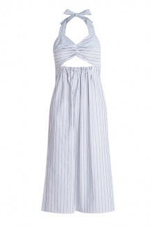 Open Midriff Pinstripe Cotton Dress By See By Chloe