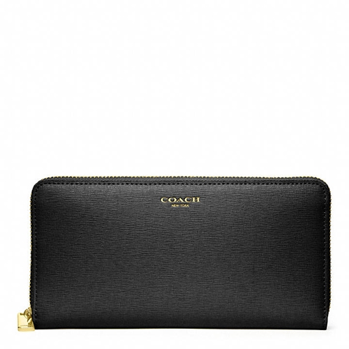 Coach Accordion Zip Wallet In Saffiano Leather