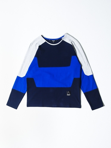 General Idea Color Block Sweatshirt Oak