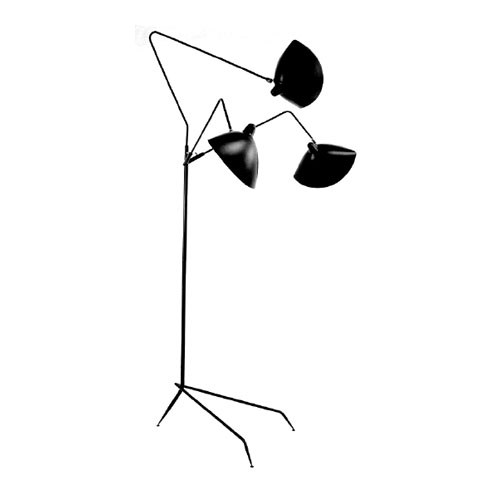 Serge mouille standing lamp 3 arms floor lamps design nuji Serge mouille three arm floor lamp