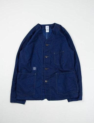 Indigo Flannel Post 41Dv Jacket Post Overalls