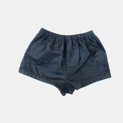 Piece Black Leather Shorts