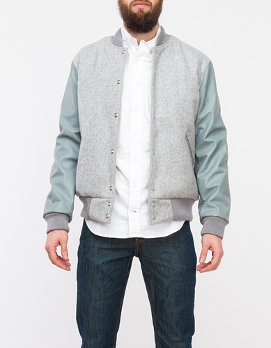 Leather Wool Heather Grey