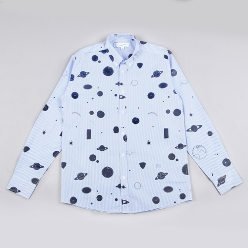 Soulland Nasa Printed Shirt White Blue Black
