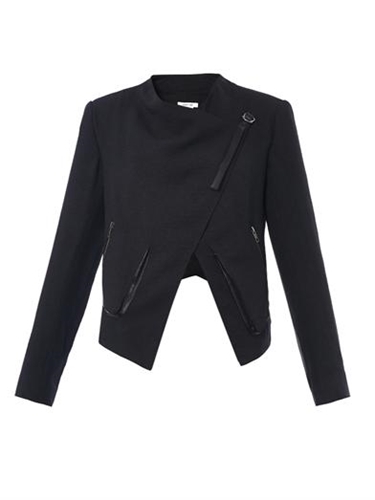 Sugar Wrap Front Crepe Jacket Helmut Lang Matchesfashion.Com