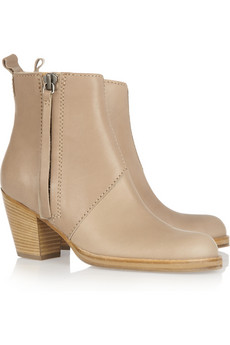 Acne Pistol leather ankle boots NET A PORTER COM