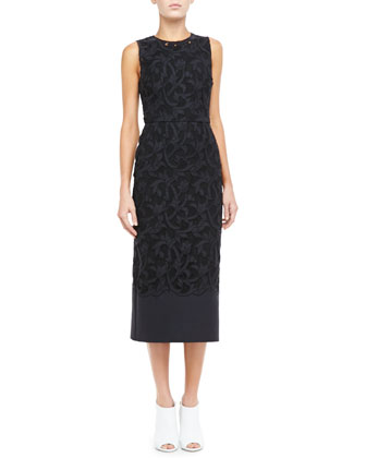 Burberry Prorsum Midi Lace Evening Dress Neiman Marcus