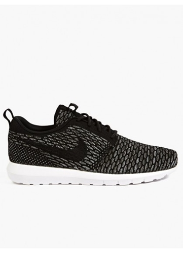 Nike Men's Black Flyknit Roshe Run Sneakers Oki Ni