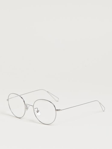 Garrett Leight X Mark Mcnairy Men's Circular Silver Optical Glasses Ln Cc