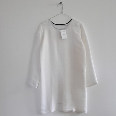 Long Sleeves Dress White Fabric