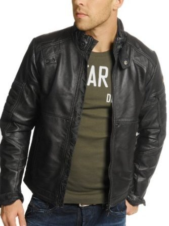 Amazon com G Star Jacket leather MFD Black Men Clothing