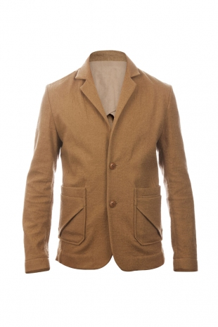Folded Pocket Blazer Golden Washed Wool Mix Outerwear