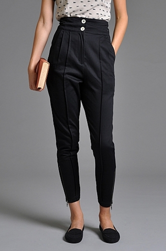 Handsom Tapered Pants Navy someplace