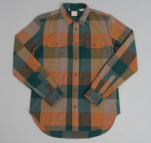 1950S Longhorn Shirt Green Orange Plaid Hickoree's