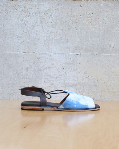 Mohawk General Store Kiefer Sandal in Bleached Denim