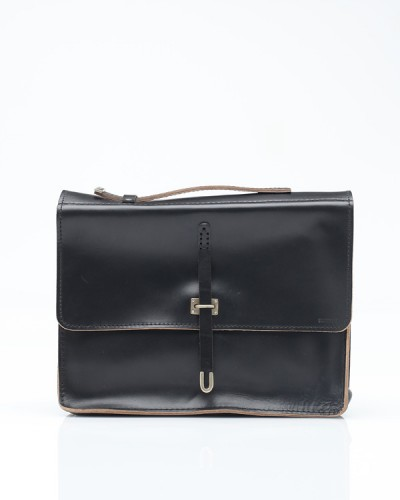 Need Supply Co BILLYKIRK Schoolboy Satchel In Black