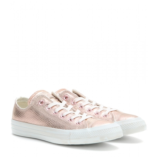 converse converse chuck taylor ox metallic leather sneakers rose gold. Black Bedroom Furniture Sets. Home Design Ideas