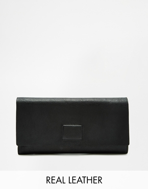 Vagabond Vagabond Leather Wallet With Magnetic Fastening At Asos