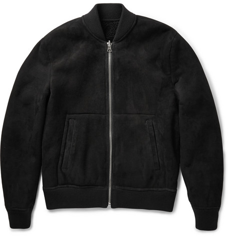 Acne Studios Otto Reversible Shearling And Suede Bomber Jacket Mr Porter