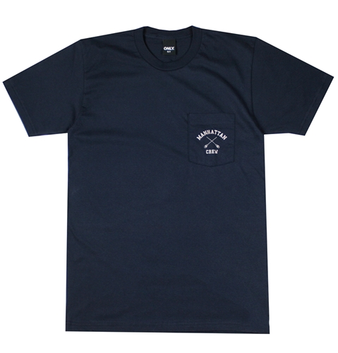 Only Ny Manhattan Crew T Shirt In Navy Huh. Store