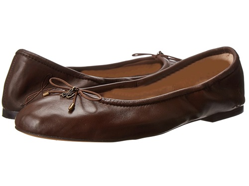 Sam Edelman Felicia Dark Brown Womenu0026#39;s Flat Shoes | Nuji