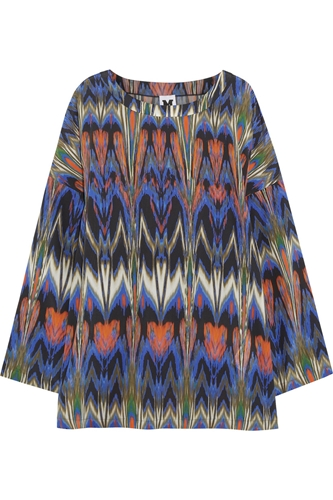 Printed Silk Crepe De Chine Top M Missoni The Outnet