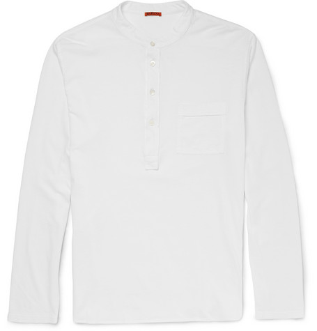 Barena Cotton Jersey Henley T Shirt Mr Porter