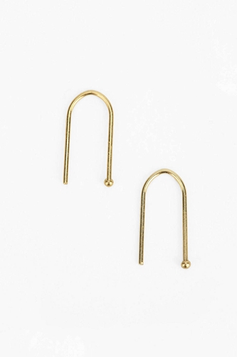 18K Gold Sterling Silver Wire Earring Urban Outfitters