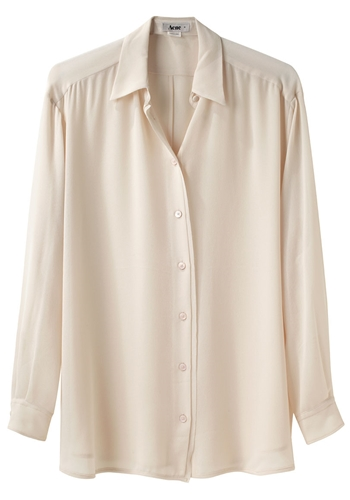 Acne Shining Button Down Shirt La Garconne