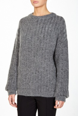 Acne Studios Dramatic Moh Grey Mohair Jumper By Acne