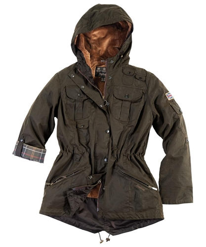 Womens Barbour Winter Force Waxed Parka Jacket Barbour By Mail Online Store