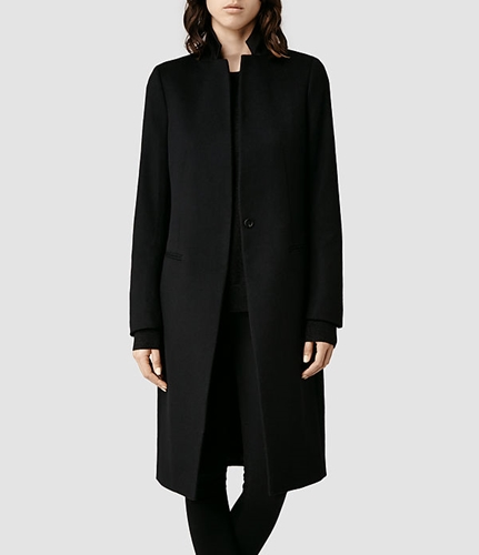 Womens Eryn Coat Black Allsaints.Com