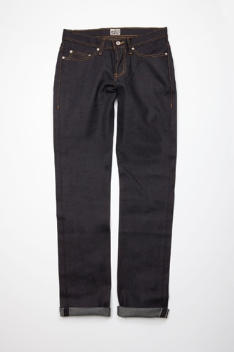 Naked And Famous Weird Guy Deep Indigo Selvedge Centre Commercial