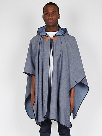 Fallow Men s Summer Cape in indigo at oki ni