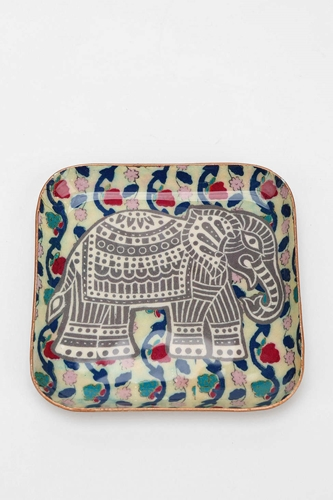 Magical Thinking Elephant Stamp Catch All Dish Urban Outfitters