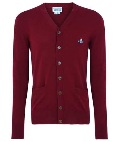 Burgundy Basic Wool Cardigan Vivienne Westwood MAN Shop the latest Vivienne Westwood MAN collection at Liberty co uk
