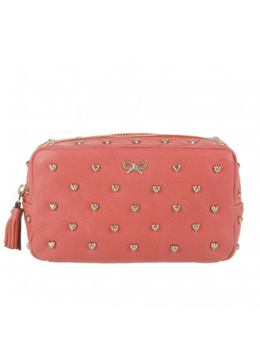 Make Up Purse With Studded Hearts Bags