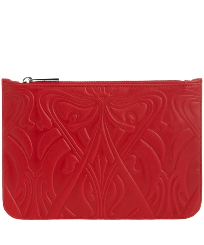 Red Leather Ianthe Pouch Liberty London Collections Shop more purses from the Liberty London Collections at Liberty co uk