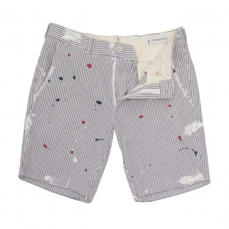 Paint Splatter Cutoff Seersucker Short Ovadia Sons