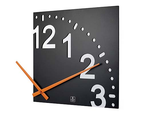 INFINITY WOODEN WALL CLOCK Modern Design Sectional Clock Uses Wall As Face UncommonGoods