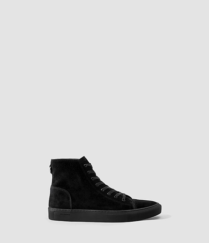 Mens Boundary Hi Top Black Allsaints.Com