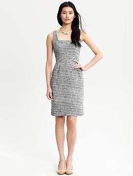Tweed Lena dress Banana Republic