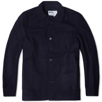 Mhl. By Margaret Howell Wool Miners Jacket Dark Navy