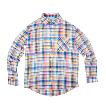 Visvim V V Sashiko Check Linen Shirt buy online Union Los Angeles